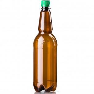 PET lahev 1 litr – hnědá čistá