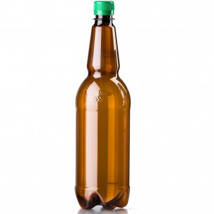 PET lahev 1 litr - hnědá Chmel