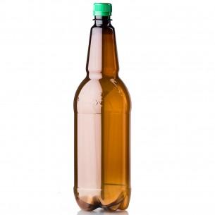 PET lahev 1,5 litru - hnědá Chmel