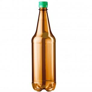 PET lahev 1 litr - hnědá Retro