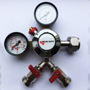 Redukční ventil CO2 mini dvouvývodový
